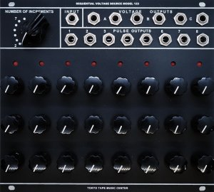 Eurorack Module Sequential Voltage Source MODEL 123 from Tokyo Tape Music Center