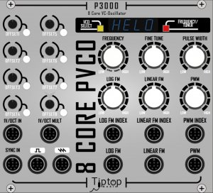 Eurorack Module P3000 Poly Oscillator from Tiptop Audio