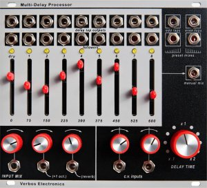 Eurorack Module Multi-Delay Processor from Verbos Electronics