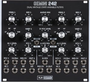 Eurorack Module Gemini 2412 Dual SVF black from AJH Synth