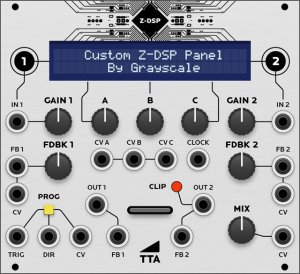 Eurorack Module Tiptop Audio Z-DSP (Grayscale panel) from Grayscale