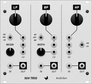 Eurorack Module Moog 904 Filter Trio from Grayscale