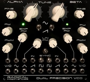 Eurorack Module Dual Precision VCO from Radical Frequencies