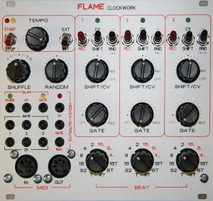 Eurorack Module Clockwork from Flame