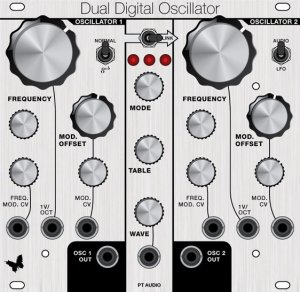 Eurorack Module Dual Digital Oscillator from PT Audio