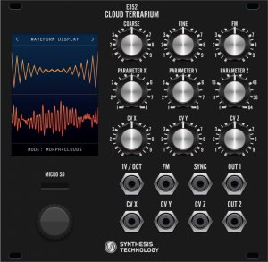 Eurorack Module E352 Cloud Terrarium (black panel) from Synthesis Technology