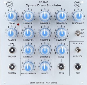 Eurorack Module CGS747 - Cynare Drum Simulator from Elby Designs