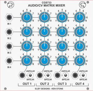 Eurorack Module Matrix Mixer from CGS