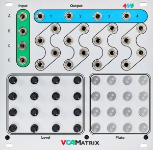 Eurorack Module VCA Matrix from 4ms Company