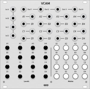 Eurorack Module 4ms VCA Matrix VCAM (Grayscale panel) from Grayscale