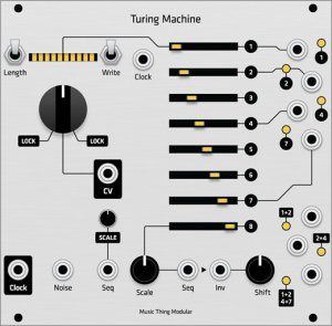 Eurorack Module Turing Machine - Grayscale Hybrid Panel from Grayscale