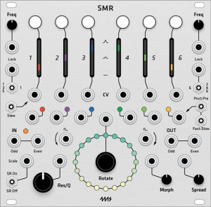 Eurorack Module 4ms SMR Spectral Multiband Resonator (Grayscale panel) from Grayscale