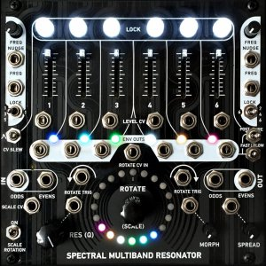 "Eurorack Module Spectral Multiband Resonator (Magpie ""Murdered Out"" faceplate) from 4ms Company"