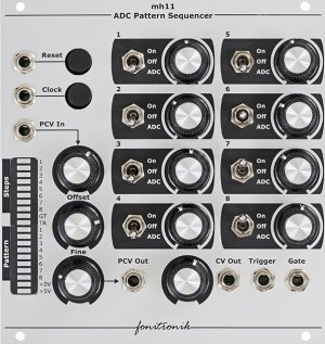 Eurorack Module MH11 ADC Pattern Sequencer from Fonitronik