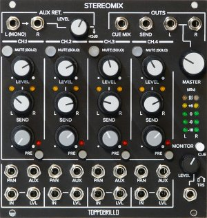 Eurorack Module Stereomix 2 (Black Panel) from Toppobrillo