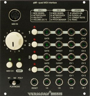 Eurorack Module quad MIDI Interface (qMI) from Vermona