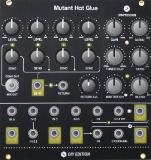 Eurorack Module Mutant Hot Glue from Hexinverter Électronique