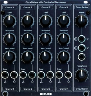 Eurorack Module OIIIAUDIO Quad Mixer with Controlled Panorama from Other/unknown