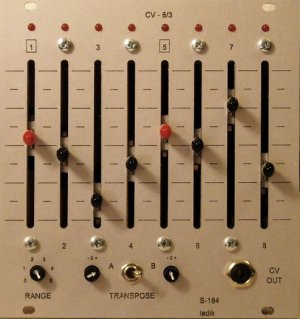 Eurorack Module S-184 CV-8/3 outputs ...for S-180 w. sliders  from Ladik