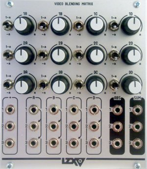 Eurorack Module Video Blending Matrix from LZX Industries