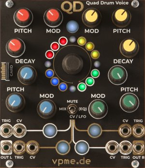 Eurorack Module QD - Quad Drum Voice from vpme.de