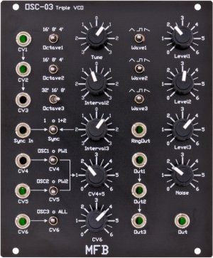 Eurorack Module OSC-03 Triple VCO from MFB