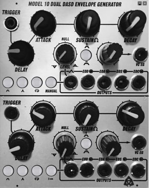 Eurorack Module Model 10 Dual DASD Envelope Generator from Electro-Acoustic Research