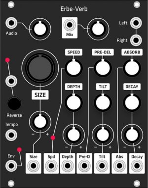 Eurorack Module Erbe-Verb (Grayscale black panel) from Grayscale