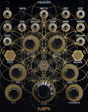 Eurorack Module Palaces (Gold) from Folktek