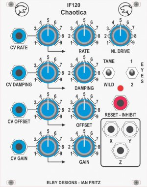 Eurorack Module IF120 - Chaotica from Elby Designs