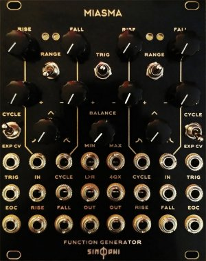 Eurorack Module Miasma from Sin Phi - Rampage Clone (Alternate Panel Black&Gold) from Other/unknown