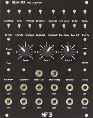 Eurorack Module SEQ-03 Step Sequencer from MFB