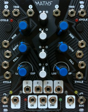 "Eurorack Module Maths (Magpie ""Black Mirror"" Panel) from Other/unknown"