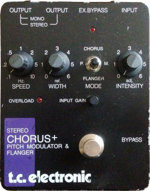 Pedals Module Stereo Chorus Flanger SCF (Original) from TC Electronic