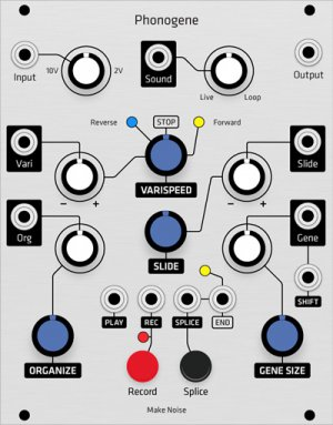 Eurorack Module Make Noise Phonogene (Grayscale panel) from Grayscale
