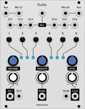 Eurorack Module Make Noise RxMx (Grayscale panel) from Grayscale