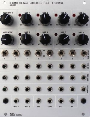 Eurorack Module ADDAC601 VC Fixed Filterbank (Greyface) from ADDAC System