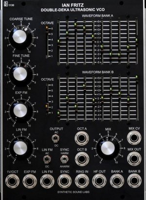 MU Module 1130 Double-Deka Ultrasonic VCO from Synthetic Sound Labs