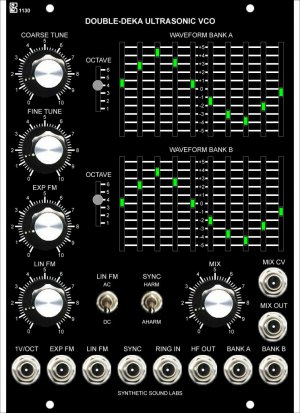 MU Module 1130 Double Deka VCO from Synthetic Sound Labs