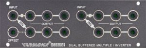 Eurorack Module Dual buffered multiple/inverter from Vermona