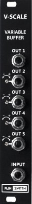 Eurorack Module V-Scale Variable Buffer (Dark Edition) from AJH Synth