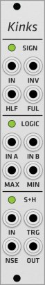 Eurorack Module Mutable Instruments Kinks (Grayscale panel) from Grayscale