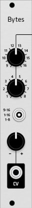 Eurorack Module Turing Machine Bytes expander from Grayscale