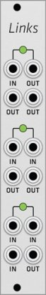 Eurorack Module Mutable Instruments Links (Grayscale panel) from Grayscale