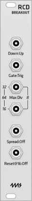 Eurorack Module 4ms RCD Breakout (Grayscale panel) from Grayscale