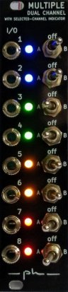 Eurorack Module Multiple dual channel, two parts, Latching & Momentary switch from ph