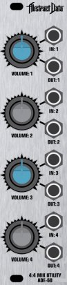 Eurorack Module ADE-60 4:4 Mix Utility from Abstract Data