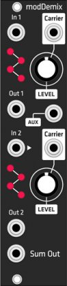 Eurorack Module modDemix (Grayscale black panel) from Grayscale