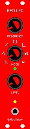 Eurorack Module RED LFO PROTOTYPE from d:Machinery
