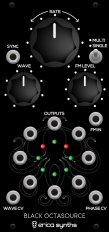 Eurorack Module Black Octasource from Erica Synths